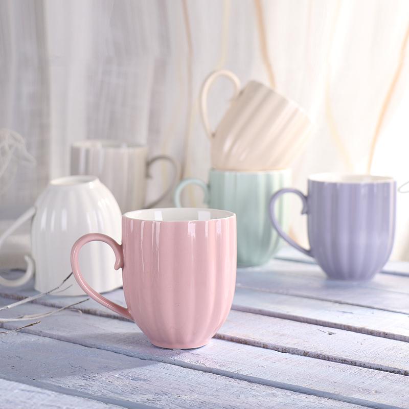 南瓜陶瓷色釉马克杯