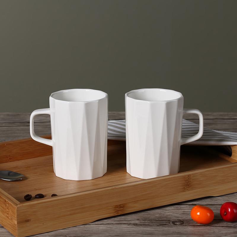 多邊菱形陶瓷馬克杯